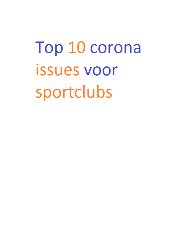 Top 10 corona issues voor sportclubs